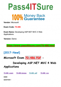 2017-Microsoft-NEW!] 100% Real Microsoft 70-486 Dumps Study Guide