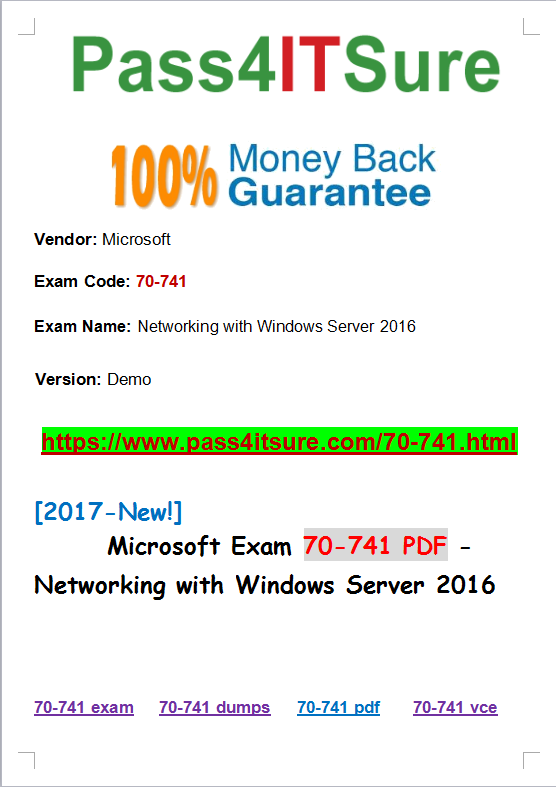 2017 Microsoft New Helpful Microsoft 70 741 Dumps Pdf Exam
